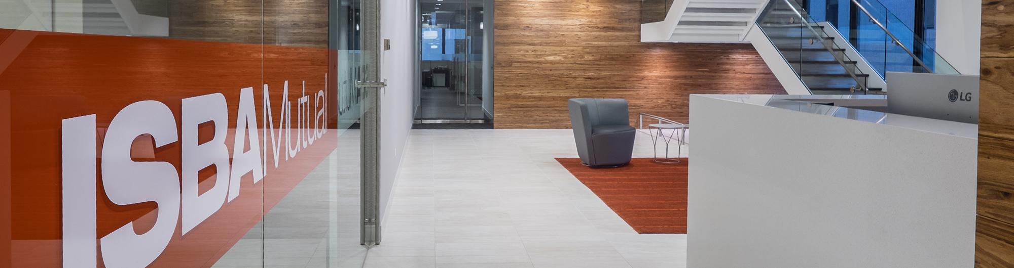 interior photo of lobby ISBA Mutual Insurance Company